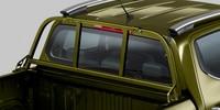 Nouveau pick-up PEUGEOT LANDTREK : arrêt de charge sur vitre arrière